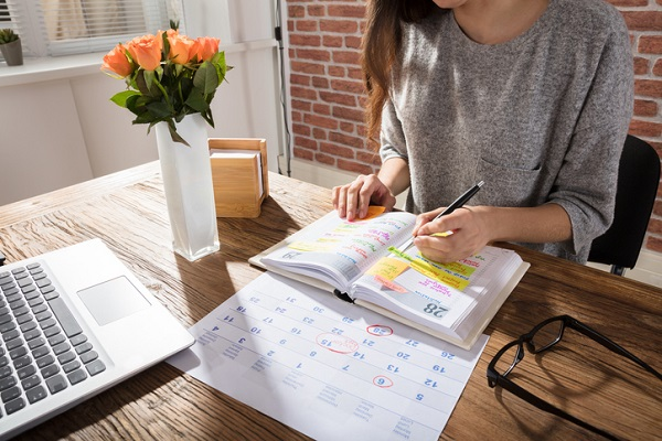 Develop good study habits by organising your time with a planner